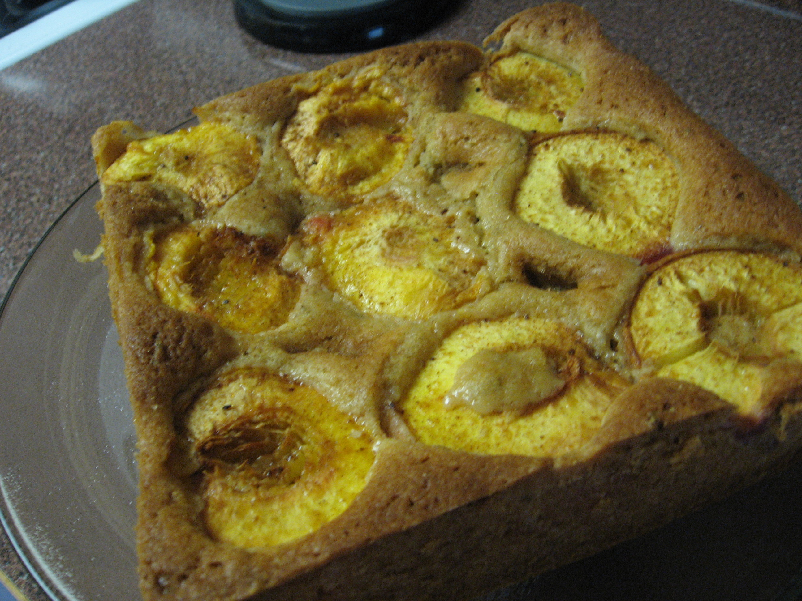 Peach cake: after