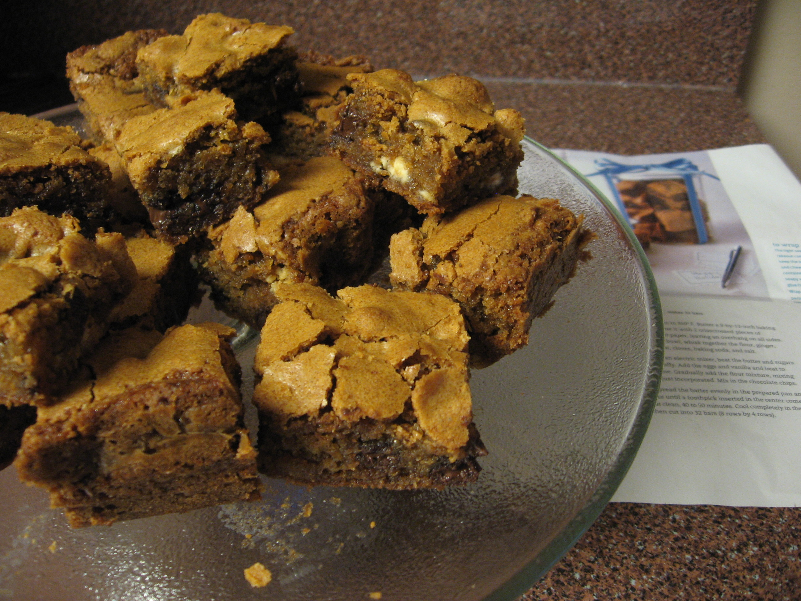 Ginger chocolate chip bars
